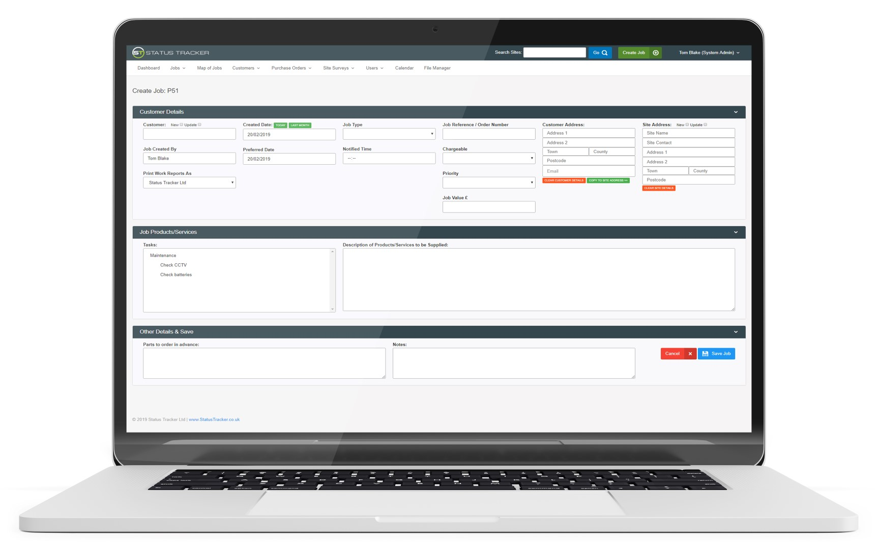 Manage and Track Jobs with Status Tracker